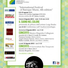 International Festival of Baroque Music, 4th Edition