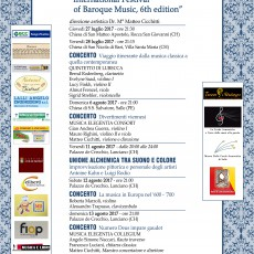 Internation Festival of Baroque Music, 6th Edition